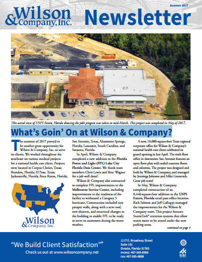 Wilson & Company Summer 2017 newsletter